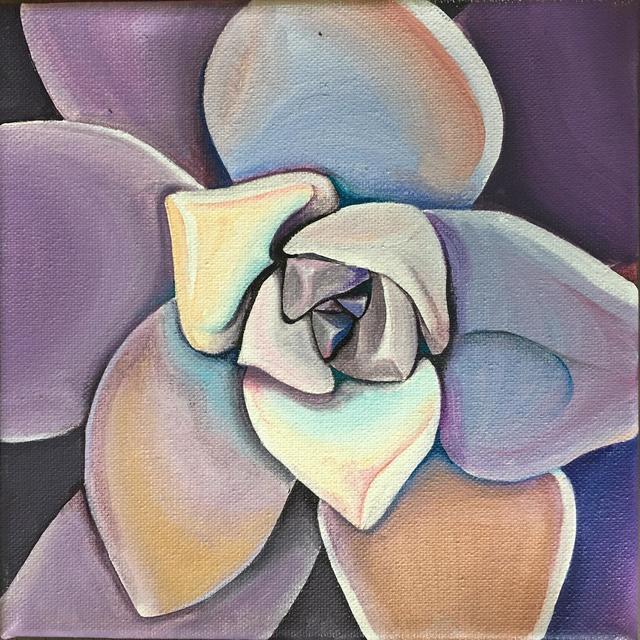 Jamie Cola-Bersamina, 'Lavender Succulent', N/A, Fe Gallery