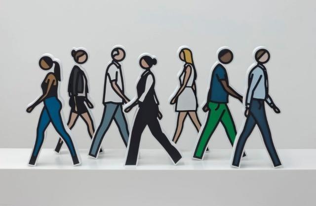 , 'Walking Statuettes,' 2017, Gregg Shienbaum Fine Art
