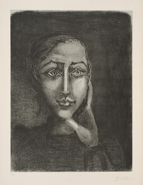 , 'Françoise sur fond gris,' 1950, Frederick Mulder