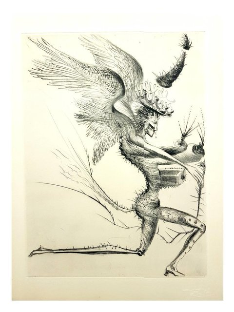 "Salvador Dalí, 'Original Etching ""Venus in Furs VII"" by Salvador Dali', 1968, Galerie Philia"