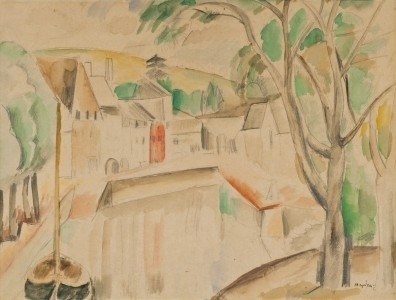 Henri Hayden, 'Vue sur le canal', ca. 1913, Painting, Watercolor and pencil on paper, Rosenberg & Co.