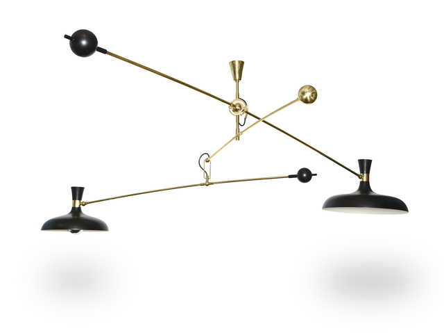 ", 'Studio-Made 2-Light ""Mobile"" Fixture,' 2015, Donzella LTD"