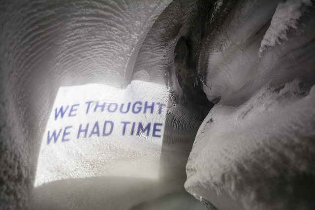, 'We thought we had time,' 2014, Blindspot Gallery