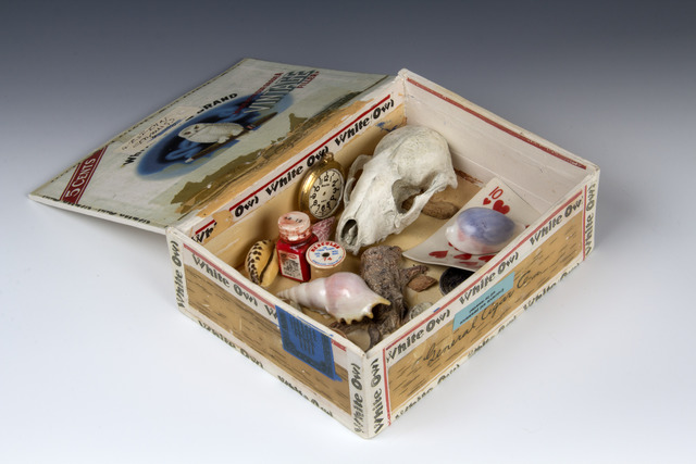 , 'White Owl Collection Box,' 2012, Bivins Gallery
