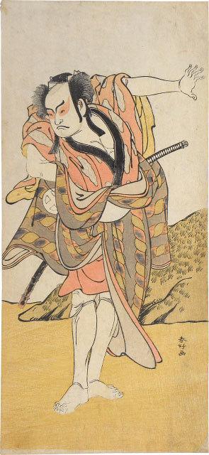 Katsukawa Shunko, 'Otani Hiroji III as Hataemon (?)', ca. 1788, Scholten Japanese Art