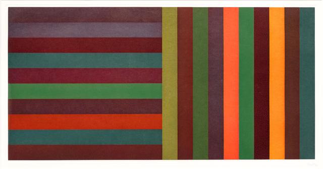 Sol LeWitt, 'Horizontal Color Bands and Vertical Color Bands II', 1991, Leslie Sacks Gallery