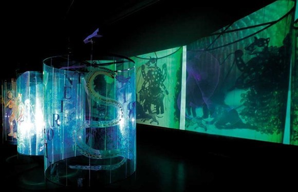Transgressions, video/shadow play installation, 2001