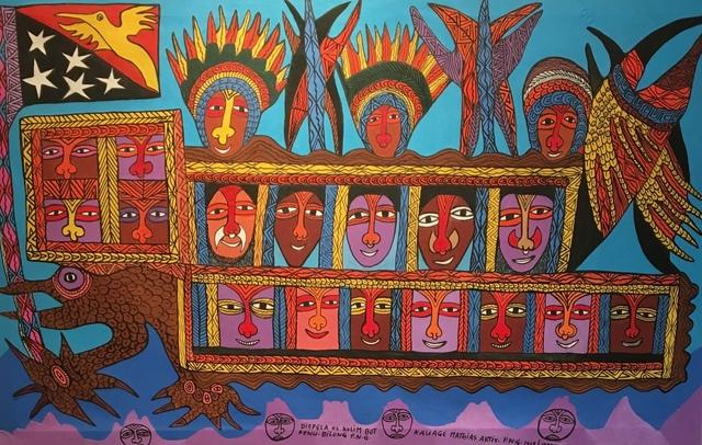 , 'Dispela ol Kolim Bot Kenu Bilong,' 1996, Rebecca Hossack Art Gallery