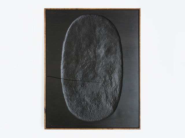 , 'Black Painting (Oval),' 2017, Patrick Parrish Gallery