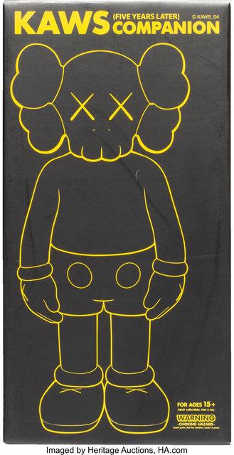 KAWS, '5 Years Later Companion (Black)', 2004, Sculpture, Painted cast vinyl, Heritage Auctions
