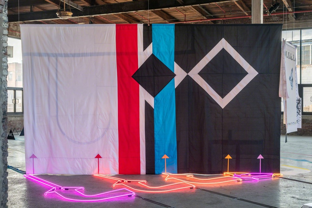 Alison O'Daniel, Room Tone (installation view), 2016. Presented at the Knockdown Center, Maspeth, NY. Courtesy the artist and Art in General.