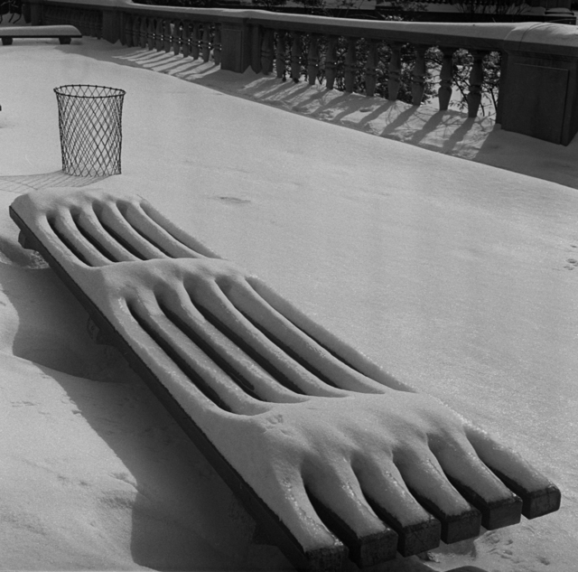 , 'Snow on Bench,' 1941, Rosenberg & Co.
