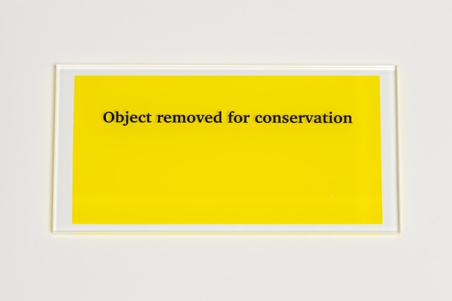 , 'Object removed for conservation,' 2013, Paul Stolper Gallery