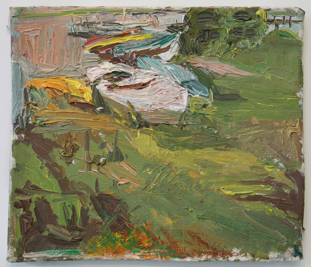 , 'Late Eve Close Up of Boats and Grass,' , Betty Cuningham