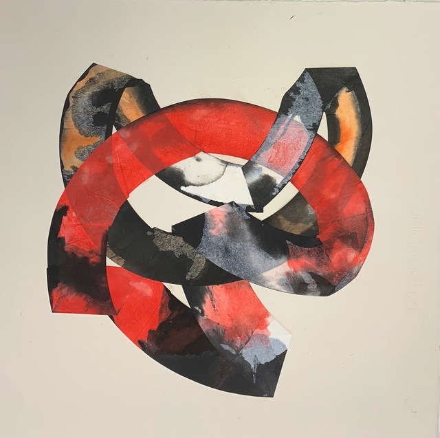 Margaret Manchee, 'Loop', 2019, Drawing, Collage or other Work on Paper, Chin colle collage with washi paper, Firestation Print Studio