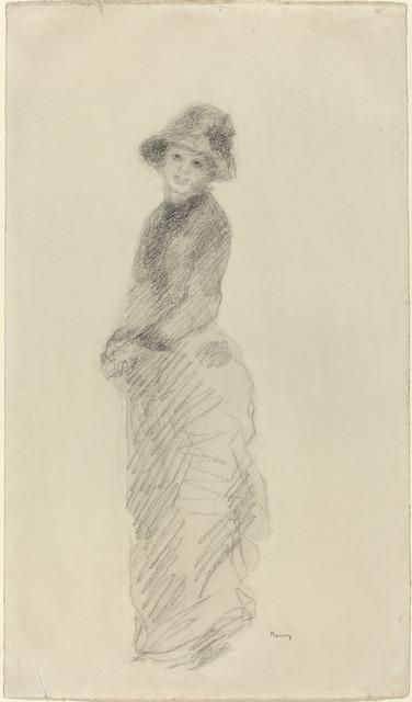 Pierre-Auguste Renoir, 'Young Woman Standing', ca. 1880, National Gallery of Art, Washington, D.C.