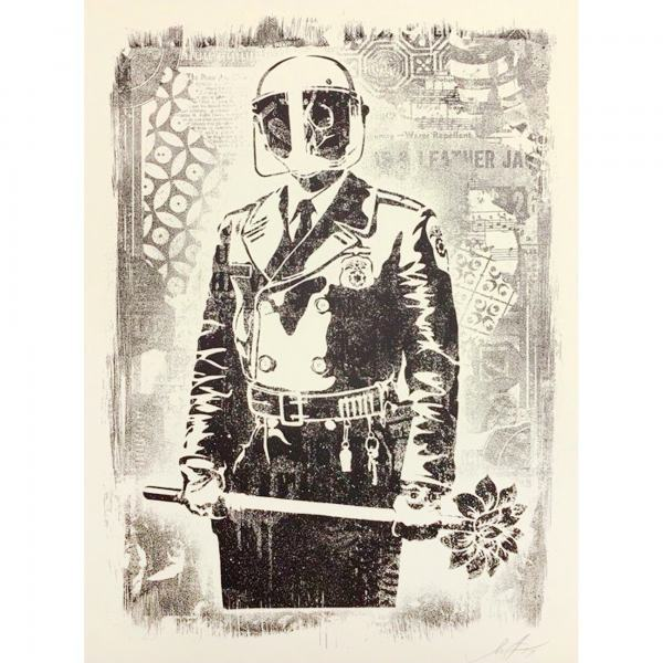 Shepard Fairey (OBEY), 'Damaged My Florist is a Dick', 2019, AYNAC Gallery