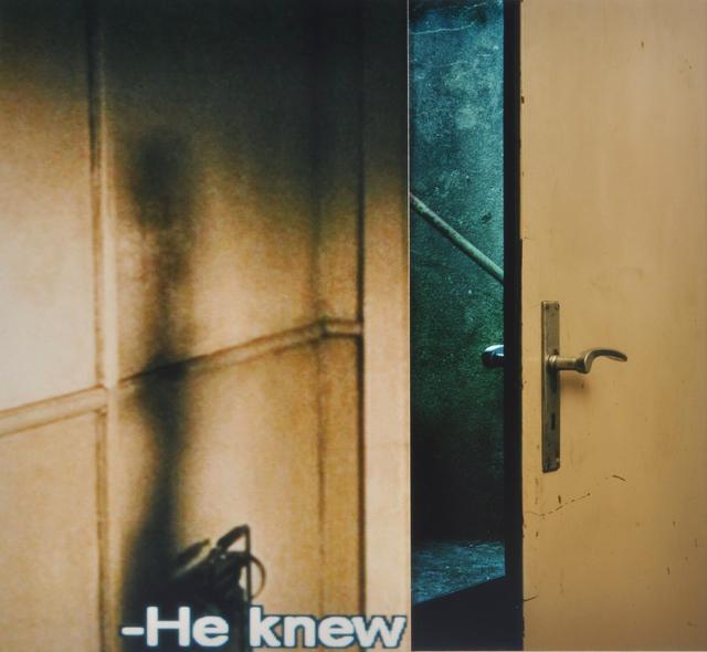 , 'He Knew,' 2011, Van der Mieden Gallery