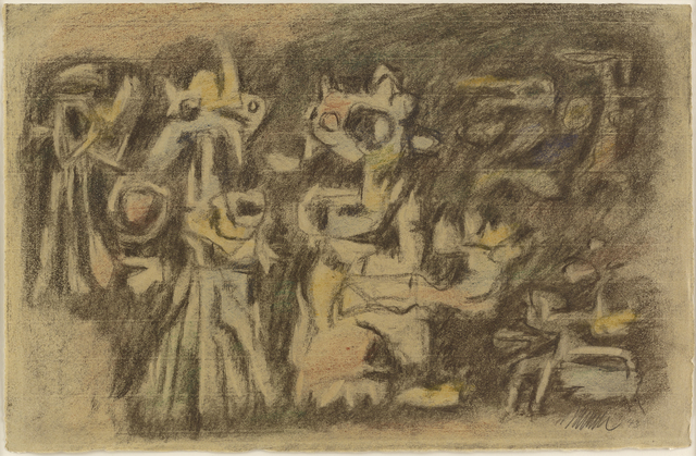 , 'Helle Figuren auf Dunkel (Light Figures on Dark),' 1943, Galerie Klaus Gerrit Friese