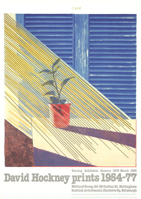David Hockney, 'Sun from the Weather Series', 1981, ArtWise