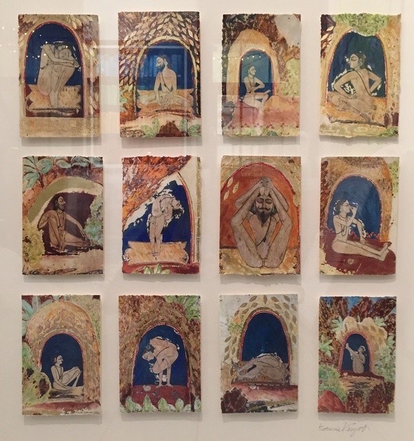 , 'Grid Style Yogis III,' 2015, Rebecca Hossack Art Gallery