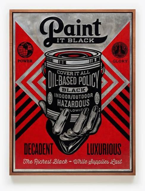 Shepard Fairey (OBEY), 'Paint it Black (Hand), Plate', 2015, Pace Prints