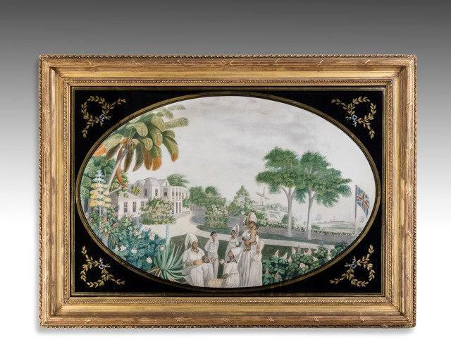 , ''A View of Pilgrim's House, Bridgetown, Barbados' for Mrs Ricketts,' 1794-1800, Thomas Coulborn & Sons