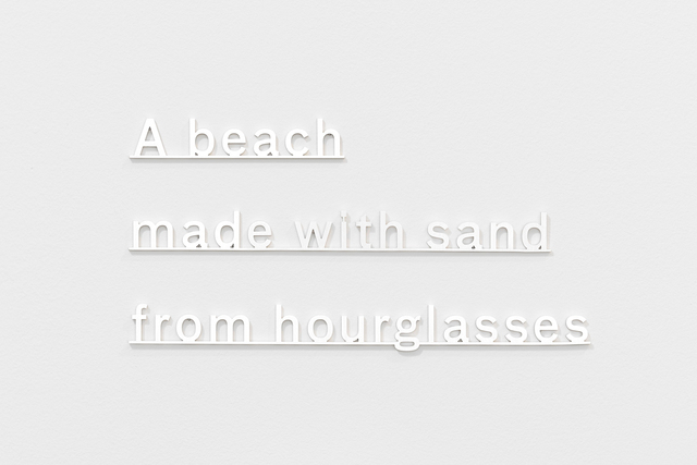 , 'Ideas (A beach made with sand from hourglasses),' 2014, Ingleby Gallery