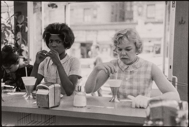 [Time of Change series (Two Women at Lunch Counter)]