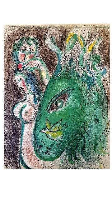 Marc Chagall, 'Original Lithograph depicting an instant of the Bible by Marc Chagall VIII', 1960, Galerie Philia