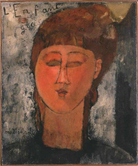 Amedeo Modigliani, 'The fat child', 1915, Pinacoteca di Brera