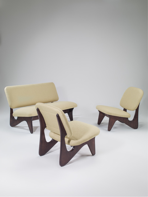, 'Free form set composed of one sofa and two seats,' 1951, Galerie Eric Philippe