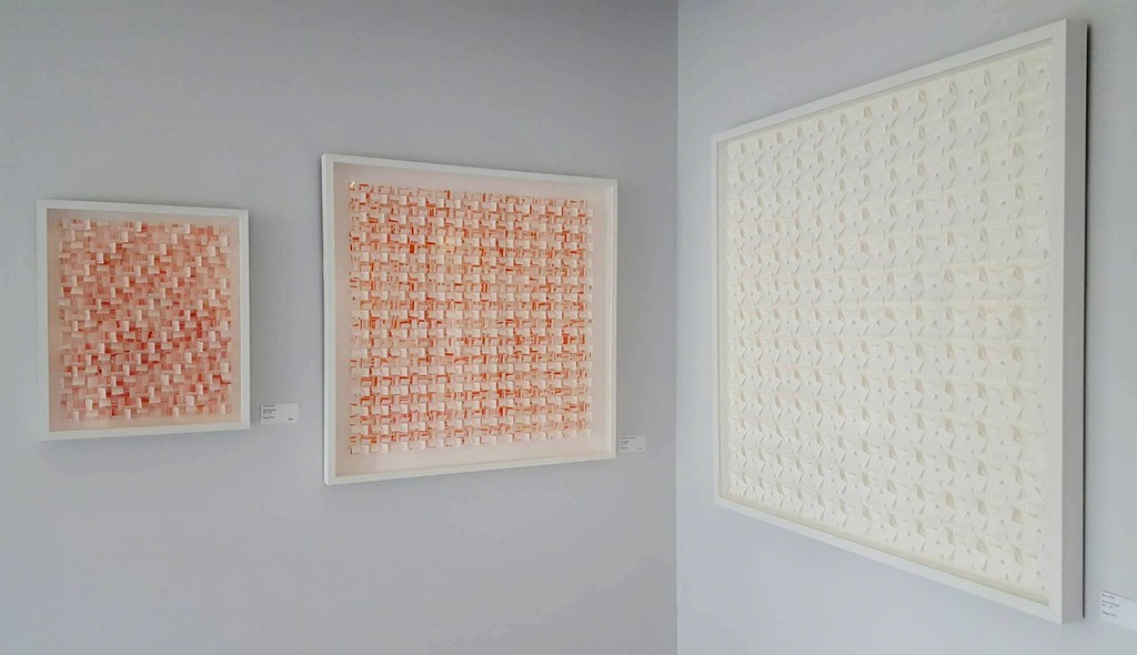 """""""Red Currents"""", """"White Over Orange Pop"""" and """"Tilt-a-Whirl"""", Gregg Welz"""