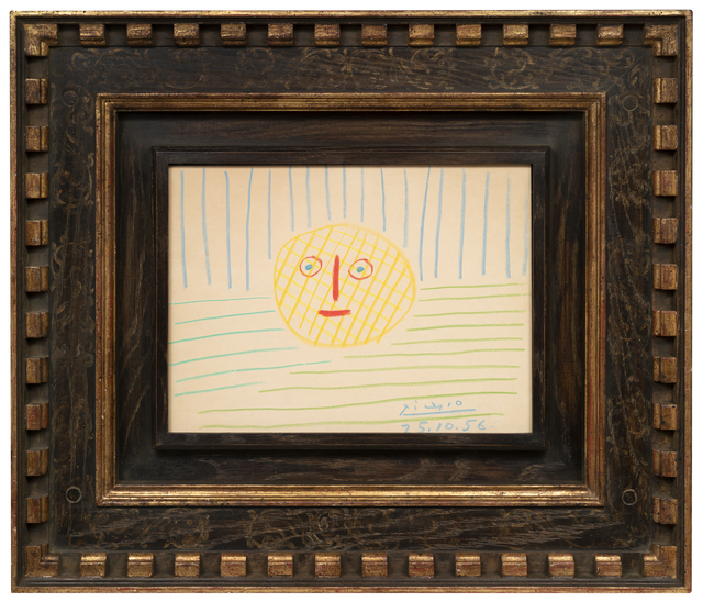 Pablo Picasso, 'Sunshine', 1956, Drawing, Collage or other Work on Paper, Pastel on paper, Galerie de Souzy
