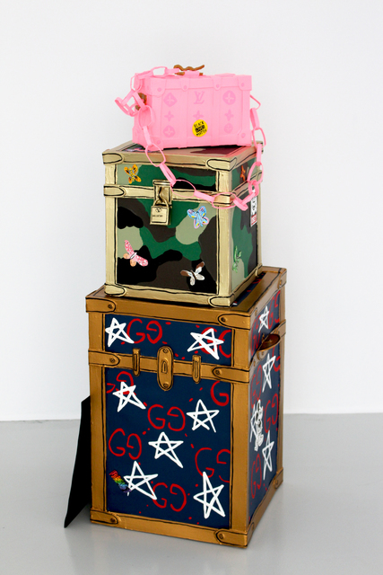 , 'California Love Stacked Luggage,' 2018, Galerie Droste