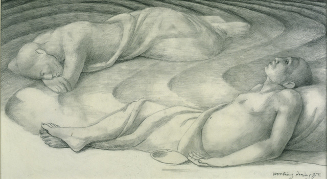 "George Tooker, 'Study for ""Sleepers IV"" ', 1978, Drawing, Collage or other Work on Paper, Graphite on mylar, DC Moore Gallery"