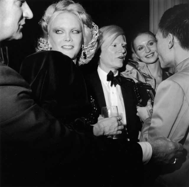 , 'Monique van Vooren, Andy Warhol, his entourage, and Tseng Kwong Chi,' 1980, Grey Art Gallery