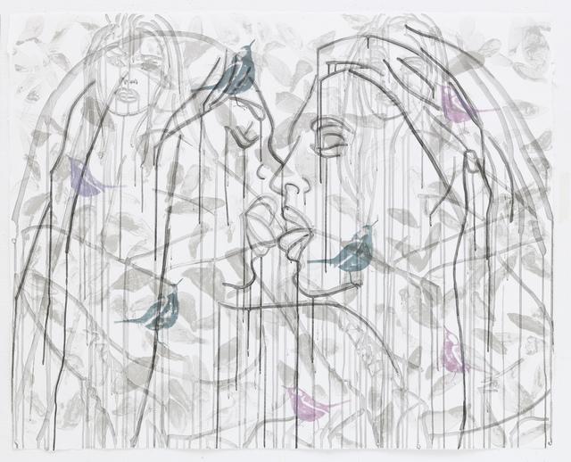 Ghada Amer & Reza Farkhondeh, 'Taste of Silent Birds,' 2007, STPI