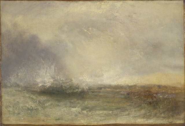 , 'Stormy Sea Breaking on a Shore,' 1840-1845, Turner Contemporary