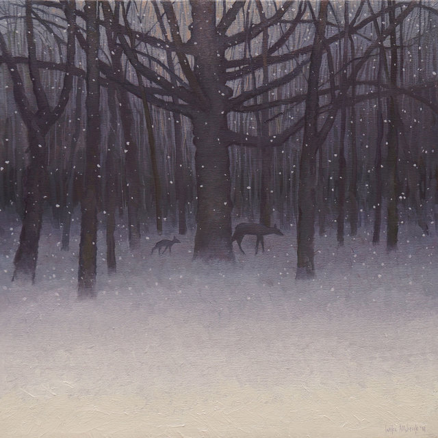 , 'Fawn in an Evening Snowfall (Bambi),' 2018, Modern Eden
