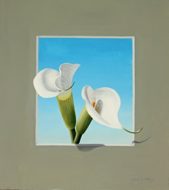 ", '""Calla Lily Trompe L'Oeil III"",' 2016, Bonner David Galleries"