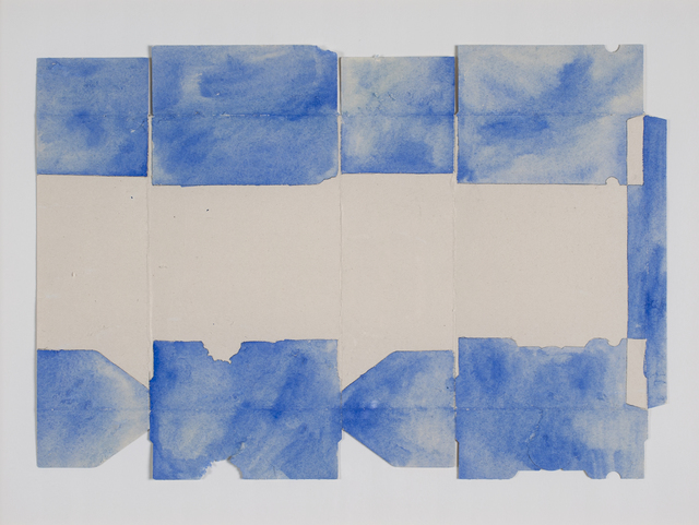 , 'Carton gratté bleu (horizon),' 2013, Galerie Laurence Bernard