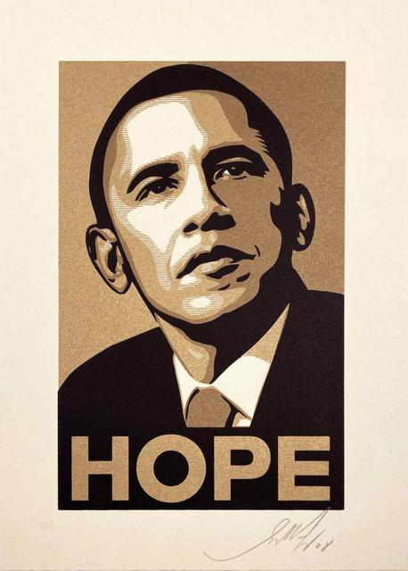 Shepard Fairey, 'Obama Hope Gold from the Artist for Obama Portfolio', 2009, Hamilton-Selway Fine Art