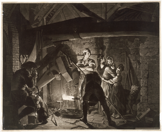 Richard Earlom, 'An Iron Forge, after Joseph Wright of Derby', 1773, Blanton Museum of Art