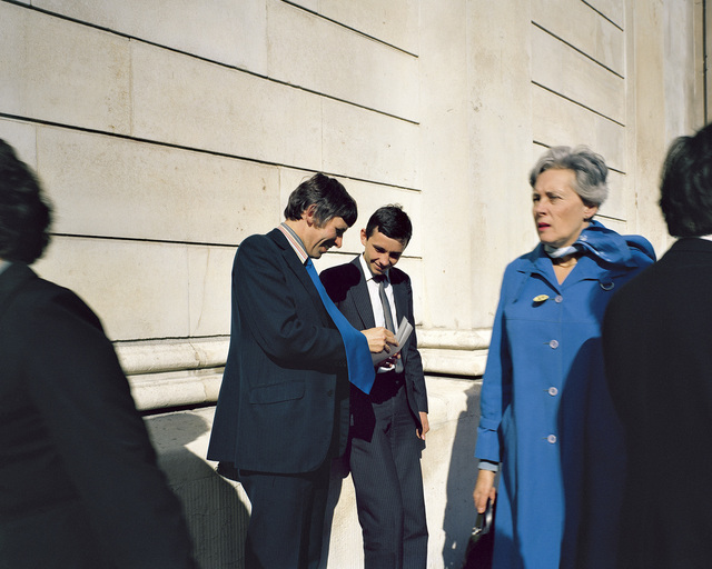 , 'Young Executives, Bank of England, November 1981, from the series A1 - The Great North Road,' 1981, Anthony Reynolds Gallery