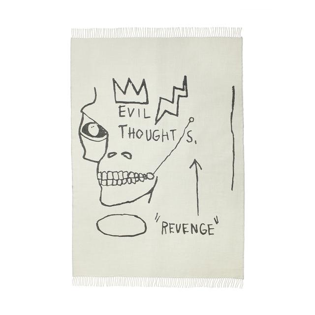 Jean-Michel Basquiat, 'Evil Thoughts Throw', 2020, Design/Decorative Art, 100% Peruvian Alpaca fleece, Artware Editions