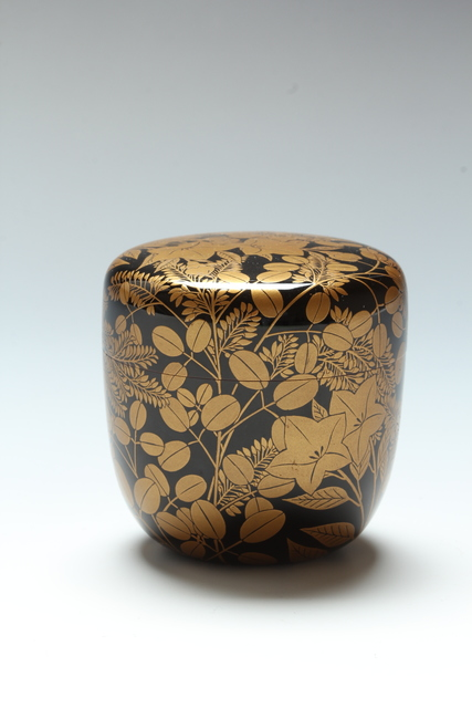 , 'Fall Grasses Tea Caddy (T-3849),' Taisho or early Showa eras 1920s-1930s, Erik Thomsen