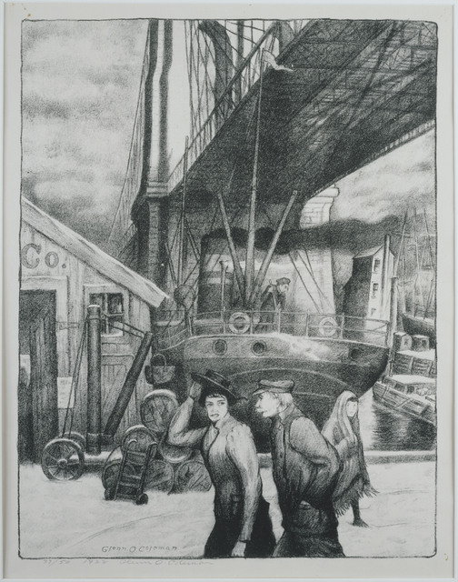 Glenn O. Coleman, 'Under the Bridge', 1928, Print, Lithograph on paper, Phillips Collection