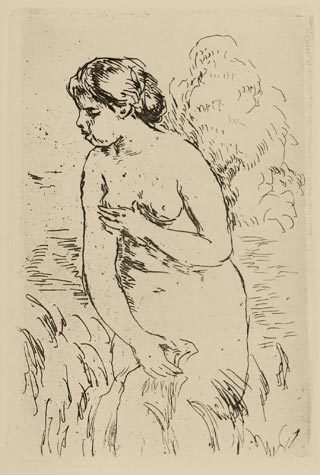 Pierre-Auguste Renoir, 'Baigneuse debout à mi-jambes', 1910, Sylvan Cole Gallery