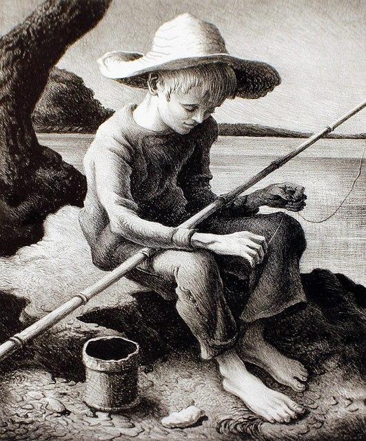 Thomas Hart Benton, 'The Little Fisherman', 1967, Print, Lithograph, Kiechel Fine Art